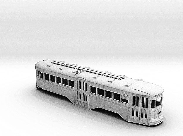 O Scale B&QT 6000 Peter Witt Body  in White Strong & Flexible