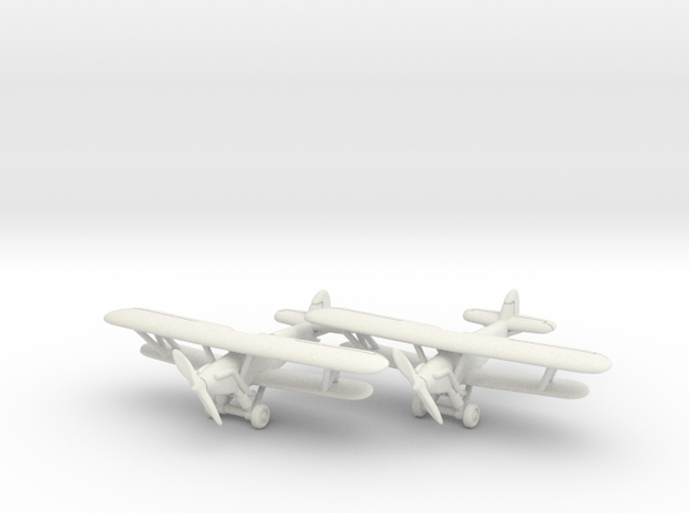 Hawker Trainer (two airplanes set) 1/285 6mm 3d printed
