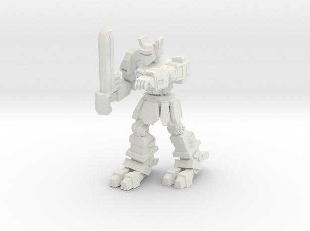 Knight K1A7 alternate pose 1 in White Natural Versatile Plastic