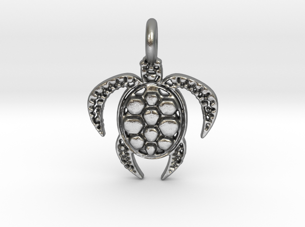 Turtle in Natural Silver