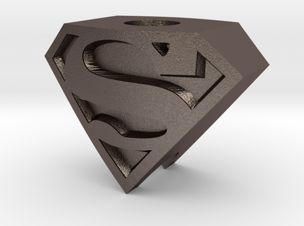 Superman Logo Bead in Stainless Steel