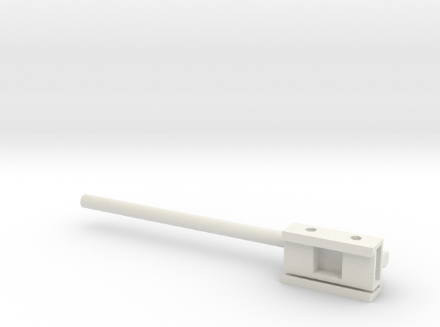 Axon Headstage Adapter With 12cm Rod in White Strong & Flexible