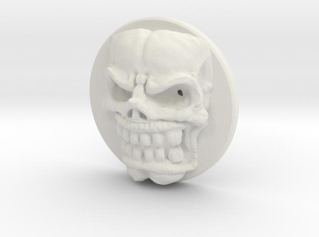 Signet Skull Slim in White Strong & Flexible