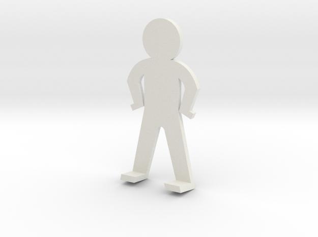 Standing guy funny in White Natural Versatile Plastic