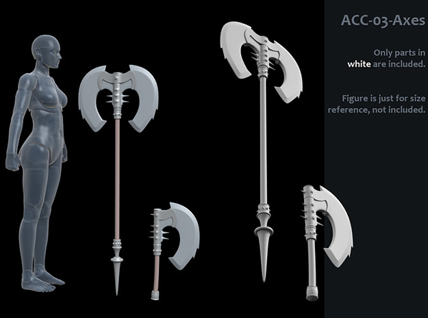 ACC-03-Axes 7inch MOTU v2.3 in White Strong & Flexible Polished