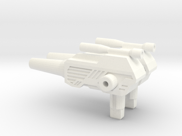 Titans Return: ChromeDome pistol 2.0 in White Processed Versatile Plastic