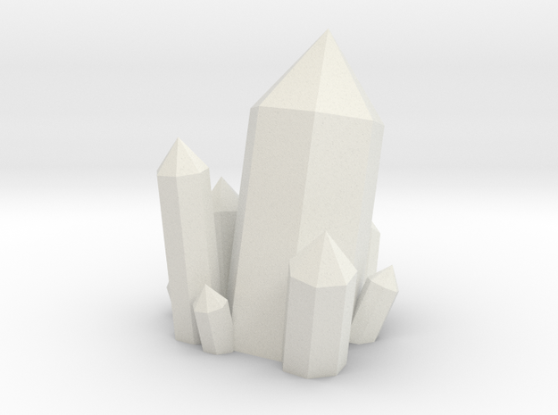 Crystal Cluster Style #2 (28mm Scale) in White Natural Versatile Plastic