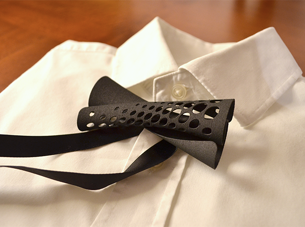Bow Tie #1 in Black Strong & Flexible