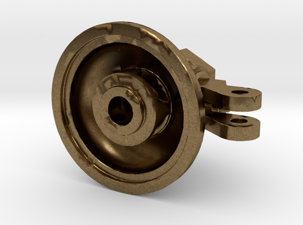 """1.5"""" Scale 5 Chime Whistle Base in Raw Bronze"""