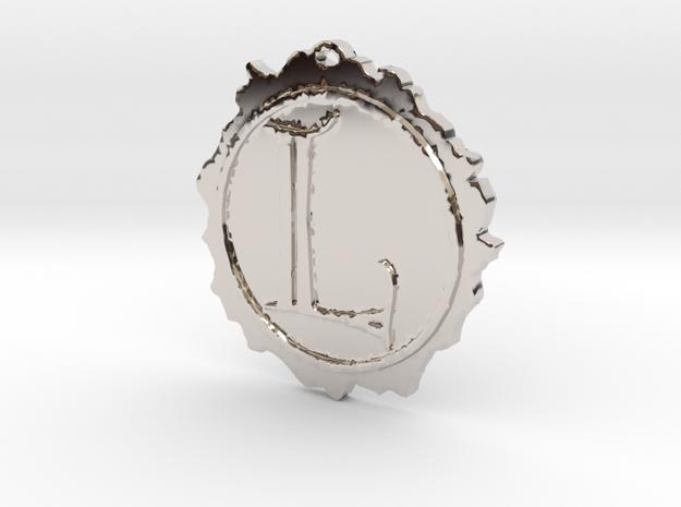 Lasombra clan symbol pendant in Rhodium Plated Brass