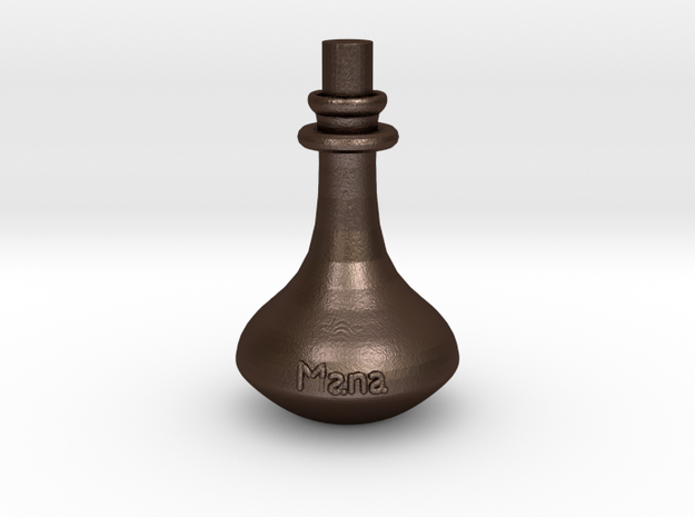 Mana Potion flask - pendant in Matte Bronze Steel