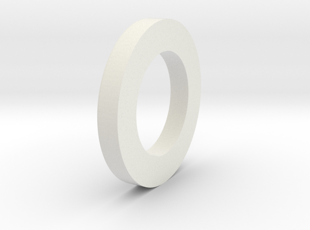 "2.00"" to 29mm Centering Ring in White Strong & Flexible"