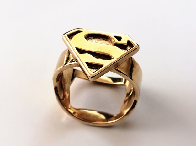 Superman Ring - Bottle Opener band or regular in Stainless Steel