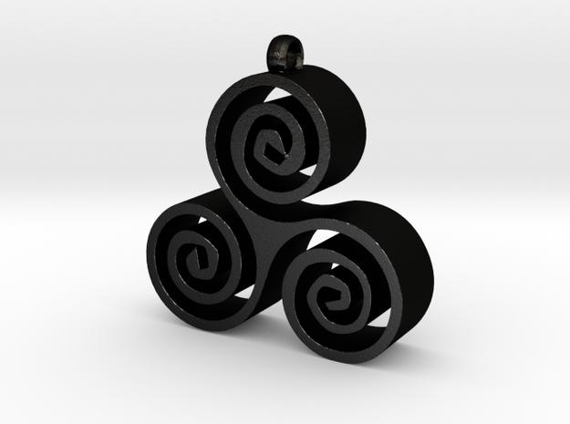 Triskele  in Matte Black Steel