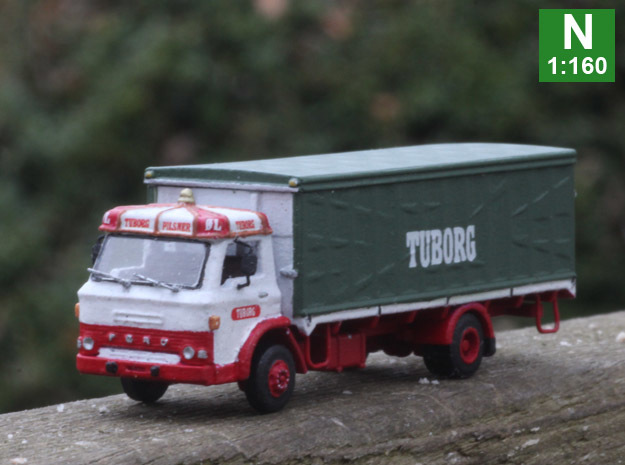 Ford D series Brewery truck N scale (parasol) in Smoothest Fine Detail Plastic