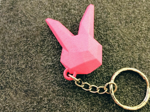 D.Va keychain charm in Pink Strong & Flexible Polished