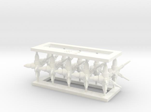 MOF Connector02 (10) in White Processed Versatile Plastic
