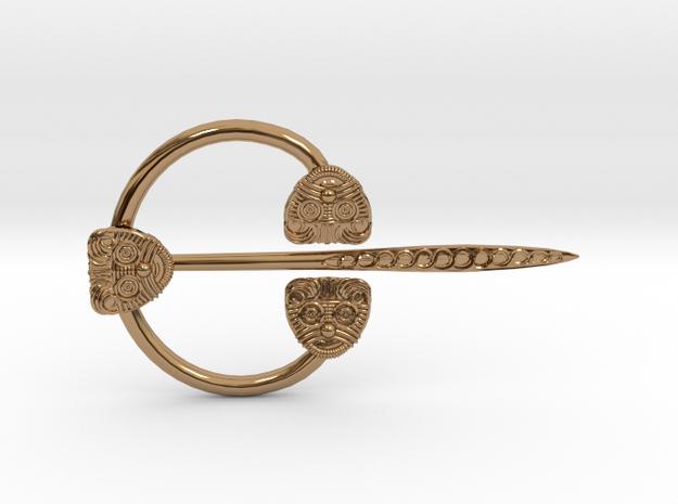 Viking Ring Needle 1 M in Polished Brass (Interlocking Parts)
