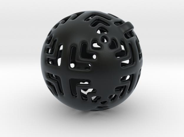 Pendant in Black Hi-Def Acrylate