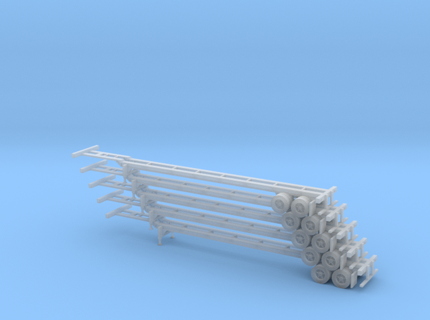 N 53' Container Chassis Stack #1 in Smooth Fine Detail Plastic
