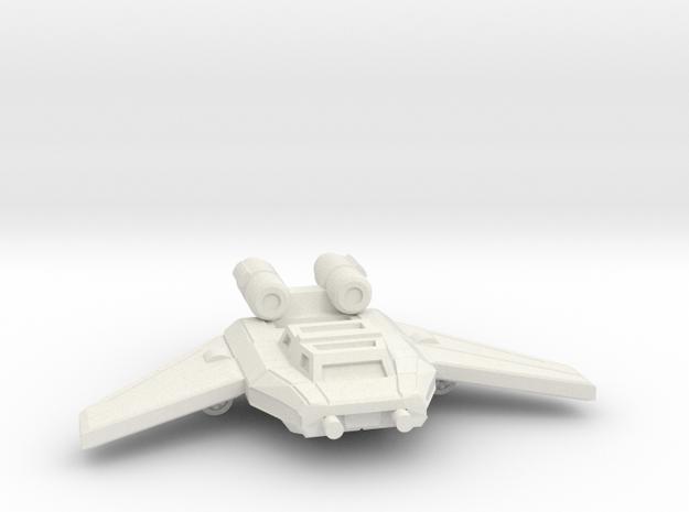 Ubi Gunship in White Natural Versatile Plastic
