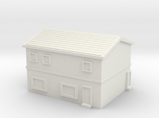 House 3 in White Natural Versatile Plastic