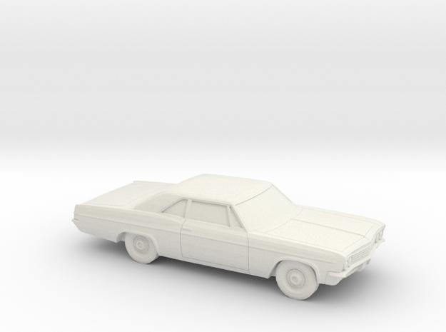 1/87 1966 Chevrolet BelAir Coupe in White Natural Versatile Plastic