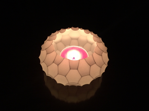 Tea Light 2 (Candle Holder) in White Strong & Flexible
