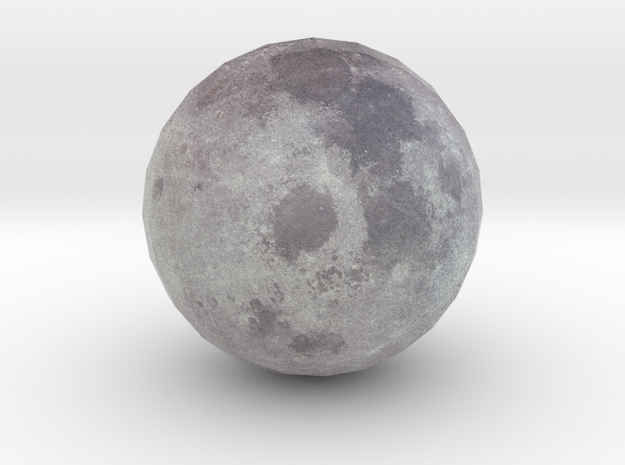 Earth's Moon in Full Color Sandstone