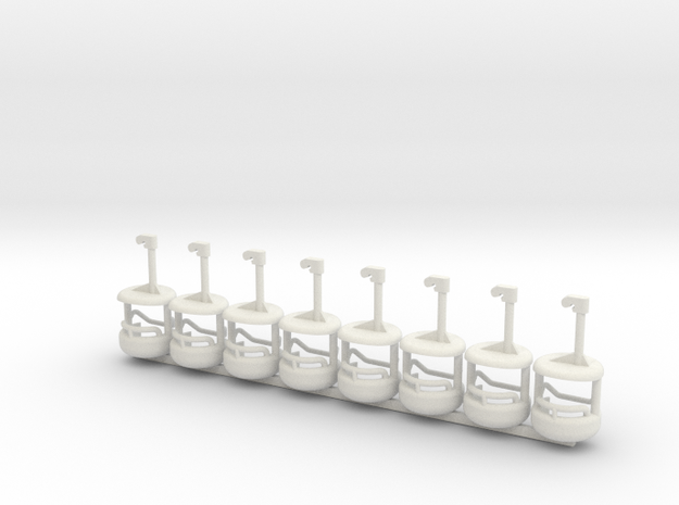 Skyride8pack1 in White Natural Versatile Plastic