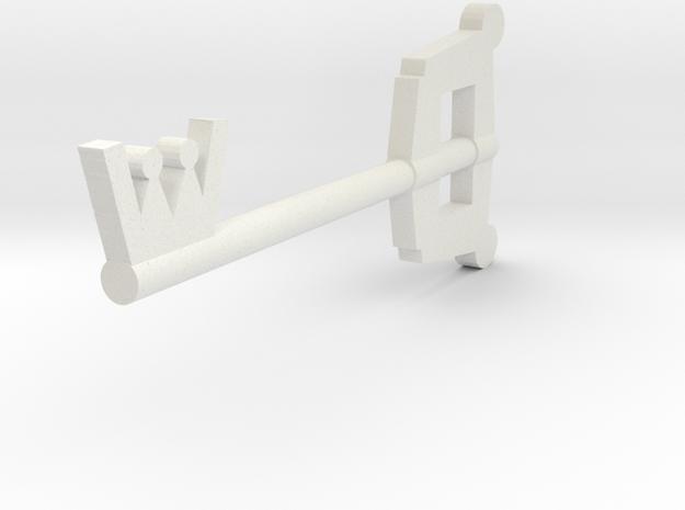 Keyblade in White Natural Versatile Plastic