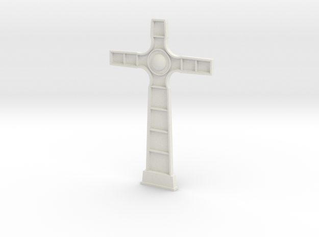 18th century cross face in White Natural Versatile Plastic