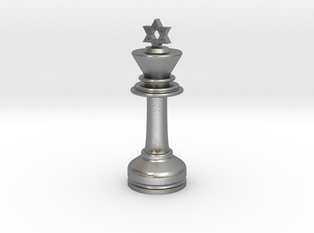 MILOSAURUS Chess MINI Star of David King in Natural Silver