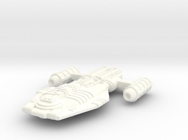 Malkorian Starship (Type 4X-7) in White Processed Versatile Plastic