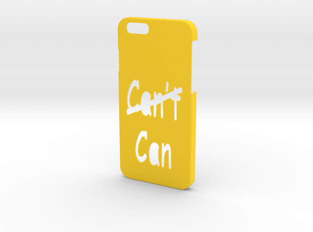 Iphone 6 Can Cant in Yellow Processed Versatile Plastic