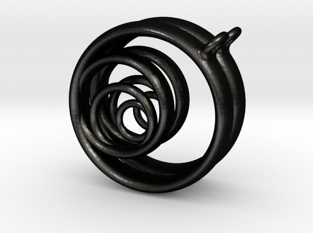 Aurea_Earrings_1 in Matte Black Steel