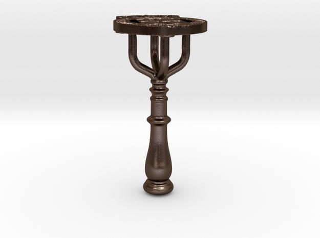 Sello R.L Aduna de S.N LÚCAR DE BARRAM.DA 1805. in Polished Bronze Steel