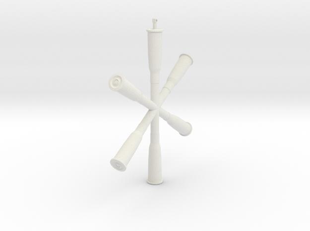 8mm Lebel cartridge decoration in White Natural Versatile Plastic