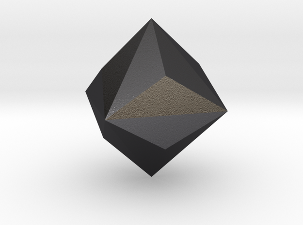 Diamond in Polished and Bronzed Black Steel