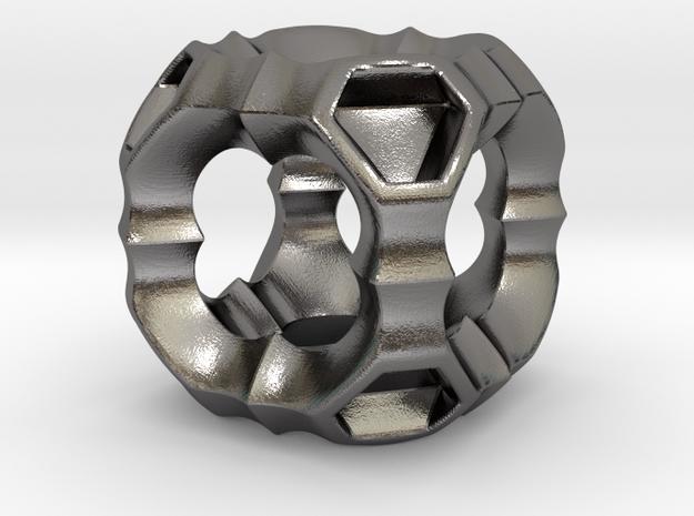 0615 IsoSurface F(x,y,z)=0 (2.5cm) #003 KOSEKOMA in Polished Nickel Steel