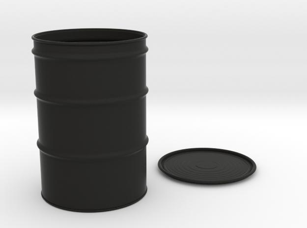 55-Gallon-Barrel - 1/10 in Black Natural Versatile Plastic
