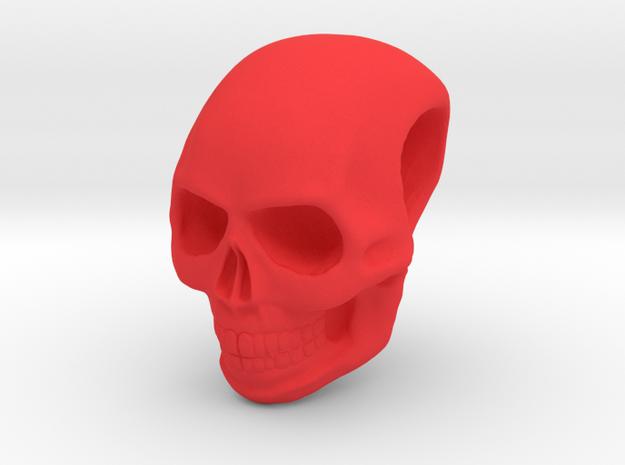 Schädel 01 in Red Processed Versatile Plastic