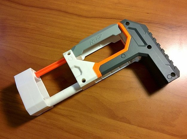ECS-10 Shoulder Stock Hardening Brace in Orange Strong & Flexible Polished