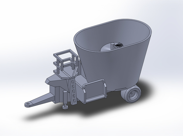 1:160/N-Scale - Fodder Mixing Wagon in Smooth Fine Detail Plastic