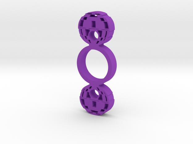 Death Star Spinner in Purple Processed Versatile Plastic