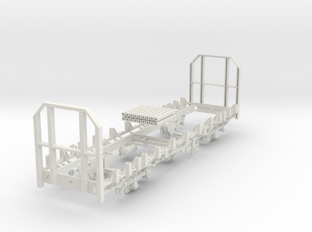7mm OTA timber wagon high end in White Strong & Flexible