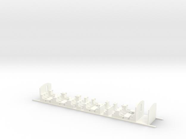 Aménagement Intérieur 1ere Classe Eurostar in White Strong & Flexible Polished