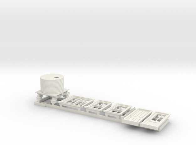 7mm RH Door Detail Parts for Platform Signal Box in White Natural Versatile Plastic