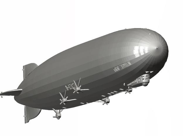 LZ127 the Graf Zeppelin (with markings), 1/700th s 3d printed CAD drawing 3/4 view