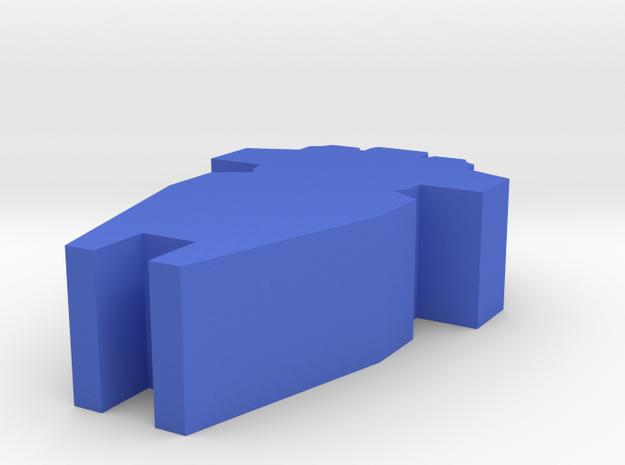 Game Piece, Alpha Faction Cruiser Starship in Blue Processed Versatile Plastic